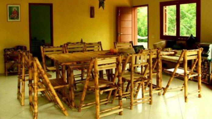 design de interiores com bambu